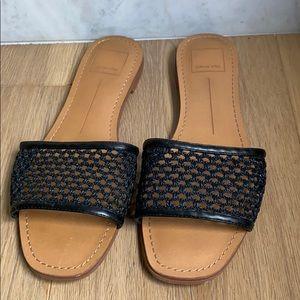 Dolce vita size 7.5 black leather flats